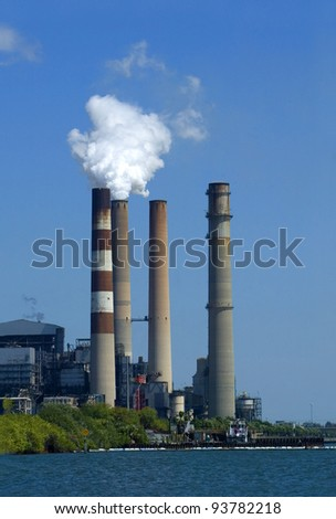 Power plant at Apollo Beach, Florida