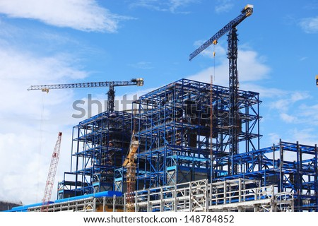 Power Plant Construction - stock photo