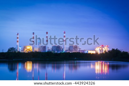 Power plant industry at night