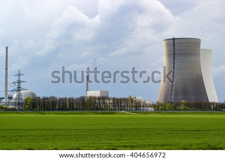 power plant philippsburg germany - stock photo