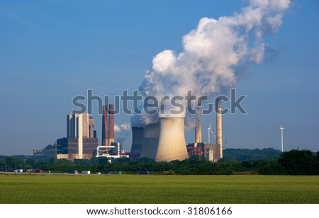 Power plant Weisweiler in North Rhein-Westfalia, Germany.