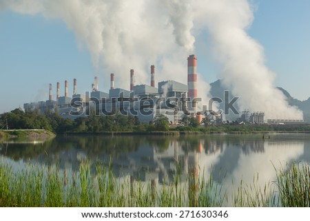 Power plants generate electricity during the day.