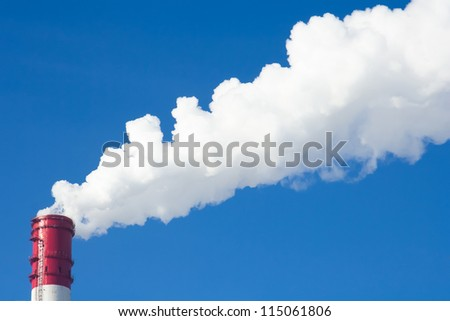 Power plants. Global warming concept - stock photo