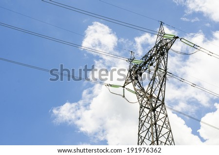 Power poles  - stock photo