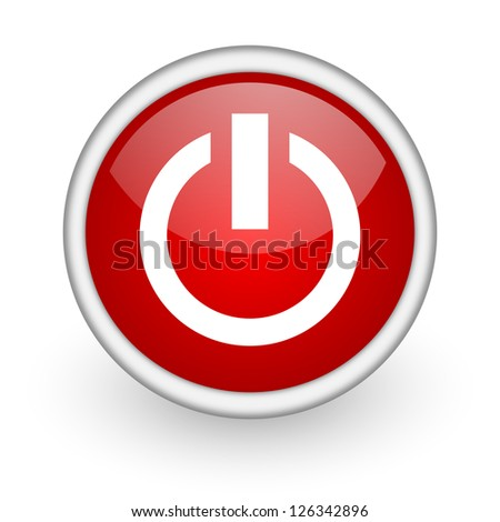 power red circle web icon on white background