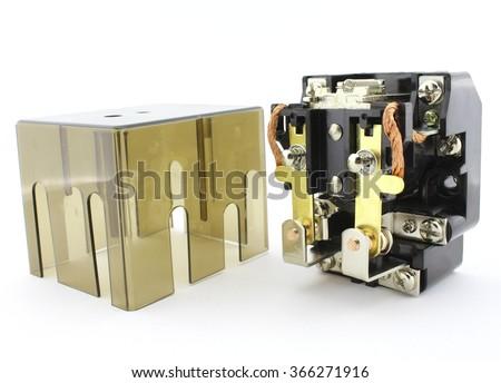 Power relay - stock photo