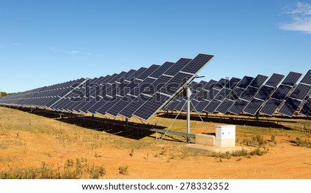 Power solar panel system. Energy production - stock photo