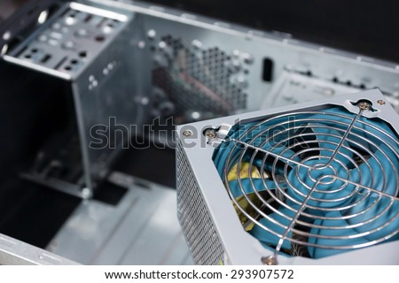 Power supply of pc computer. - stock photo