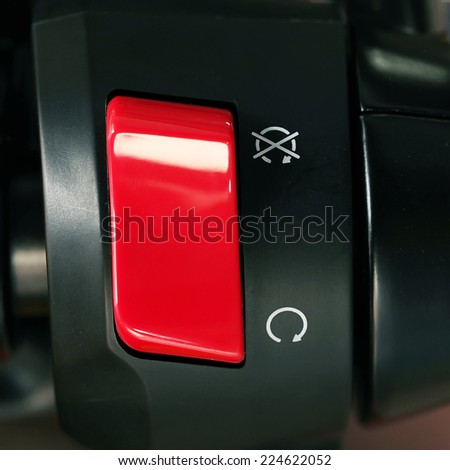 power switch button for motorcycle - stock photo