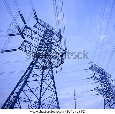 Power tower - stock photo