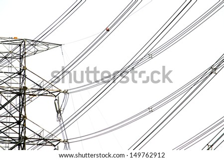 Power Transmission Line Tower - stock photo