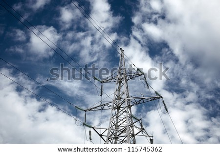 Power transmission tower - stock photo