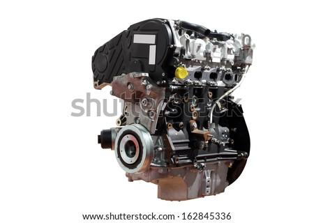 powerful car engine isolated on white background  - stock photo