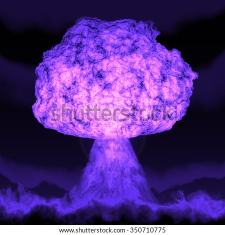 Where Is The Lilac Fire >> Powerful Explosion Atomic Bomb Night Nuclear Stock Illustration 350710775 - Shutterstock