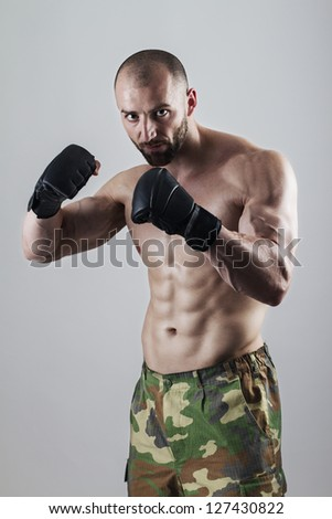 Powerful fighter portrait