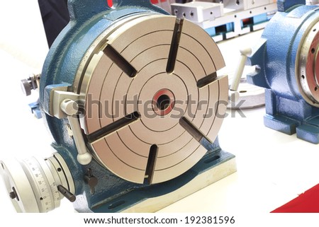 Powerful industrial equipment rotary table  - stock photo