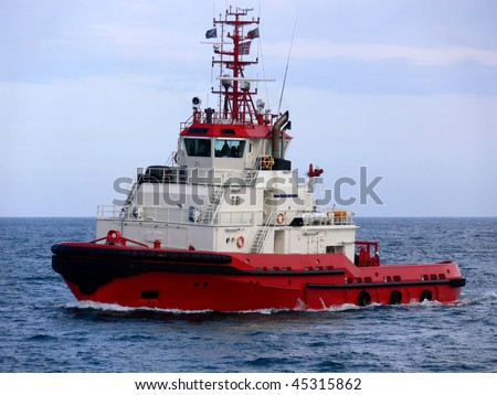 Powerful Offshore Tugboat - stock photo