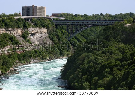 Powerful rapids in the lower Niagara River