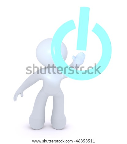POWERING IT ON - stock photo