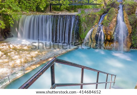 Pozar Thermal Baths, Macedonia, Greece - stock photo