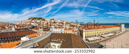 Praca do in Lisbon, Portugal in a summer day - stock photo