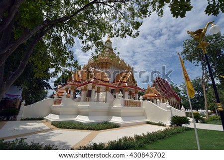 PRACHUAP KHIRIKHAN THAILAND - MAY 28 : Wat Huay Mongkol on MAY 28, 2016 at Wat Huay Mongkol in Hua Hin, Prachuap Khiri Khan, Thailand