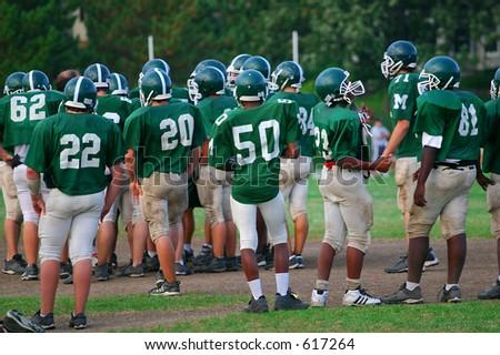 Practice lineup - stock photo