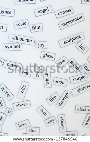 practice of English vocabulary for students English - stock photo