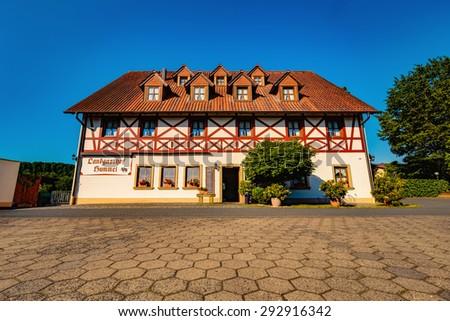 praechting germany july 02 2015 historical tavern. Black Bedroom Furniture Sets. Home Design Ideas