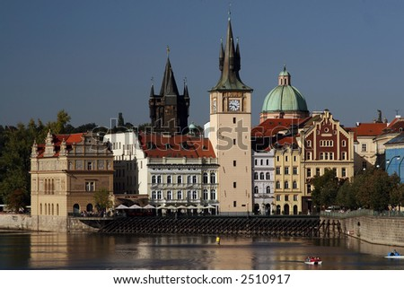 Prague and river