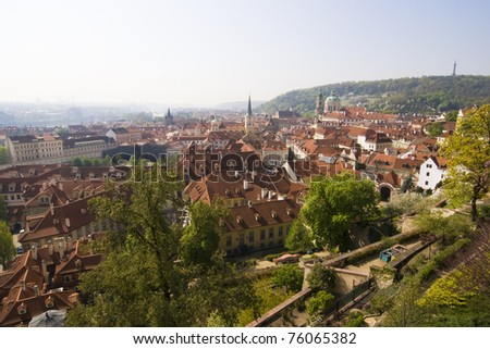 Prague city center in springtime - Czech Republic