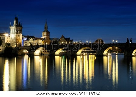 Prague cityscape in Czech Republic - stock photo