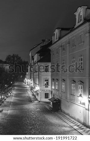 PRAGUE, CZECH REPUBLIC - DECEMBER 25, 2013: Prague by night.