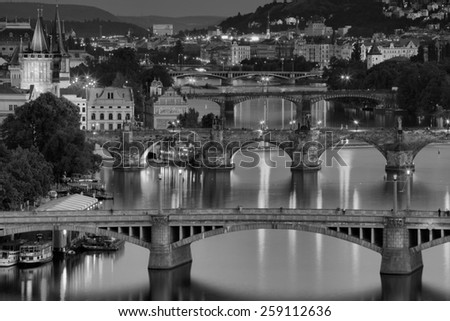 PRAGUE, CZECH REPUBLIC - JULY 1, 2014: Prague is the capital of the Czech Republic. One of the most visited cities in Europe. Lots of sights for walks. - stock photo