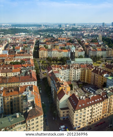 Prague, Czech Republic, on July 5, 2010. View of the city from a high point