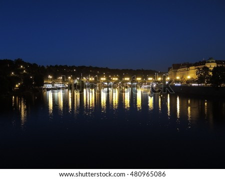 Prague is the capital of the Czech Republic. political and cultural center of Bohemia. Its historic center was included in the Unesco World Heritage . Bridges on Vitava river at night