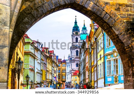 Prague, Mala Strana. Czech Republic - stock photo