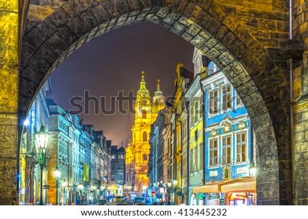 Prague, Mala Strana. Czech Republic - stock photo