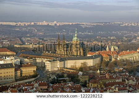 Prague - Panoramic view with Hradcany and Lesser Town