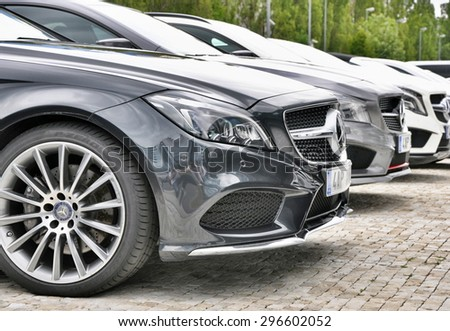 PRAGUE, THE CZECH REP., NOVEMBER 14, 2015: Luxury car Mercedes-Benz - stock photo