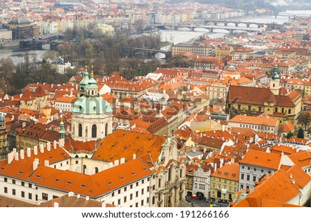 Prague. View from above. - stock photo