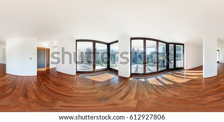 Empty Apartments Inside 360 panorama stock images, royalty-free images & vectors