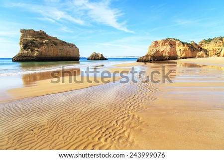 Praia da Rocha in Portimao, Algarve region, Portugal - stock photo
