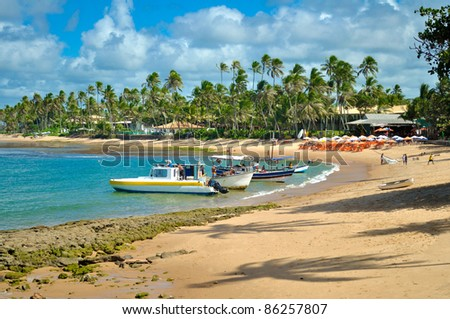 Praia do Forte beach - Bahia - Brazil - stock photo