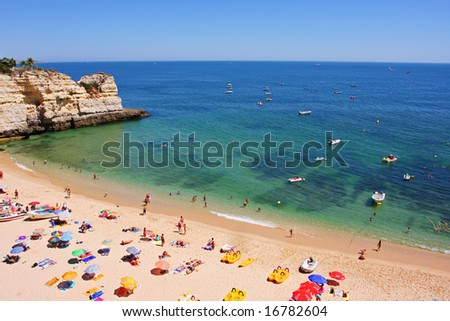 Praia Senhora da Rocha, Algarve Portugal - stock photo