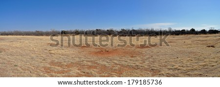 Prairie dog town in Caprock Canyons State Park, Texas - stock photo