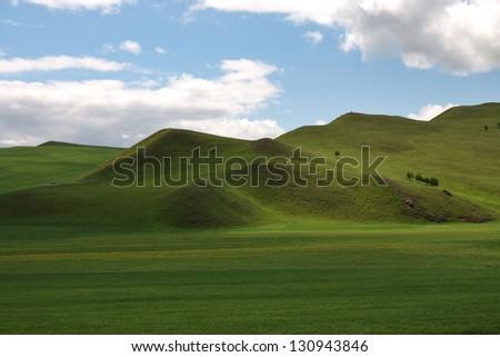 prairie in Inner-Mongolia - stock photo