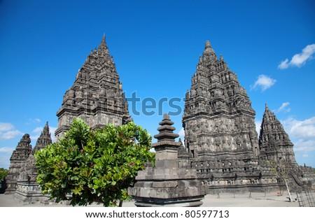 Prambanan Hindu temple in Jogjakarta, Indonesia - stock photo