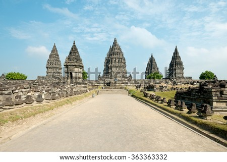 Prambanan Temple, in Yogyakarta, Indonesia - stock photo