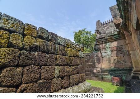 Prasat Hin Phanom Rung or Phanom Rung Stone Castle Ruin of Buriram Thailand - stock photo